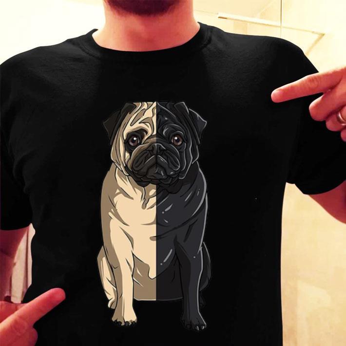 White Pug black pug shirt