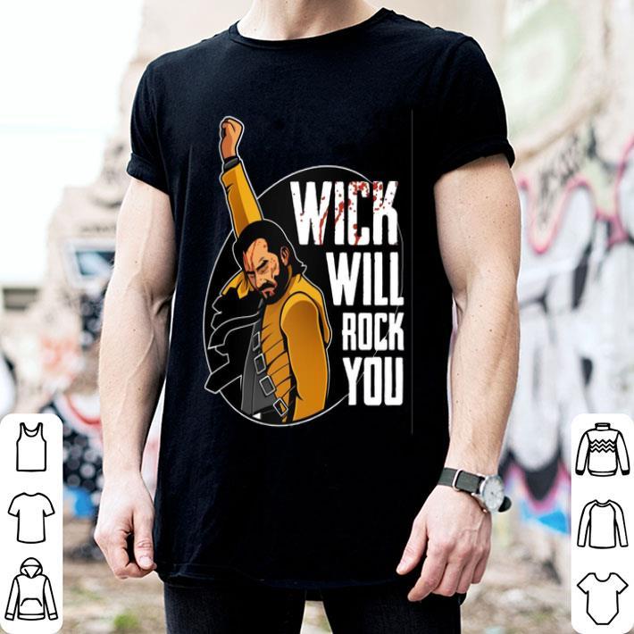 Wick will rock you John Wick Freddie Mercury shirt