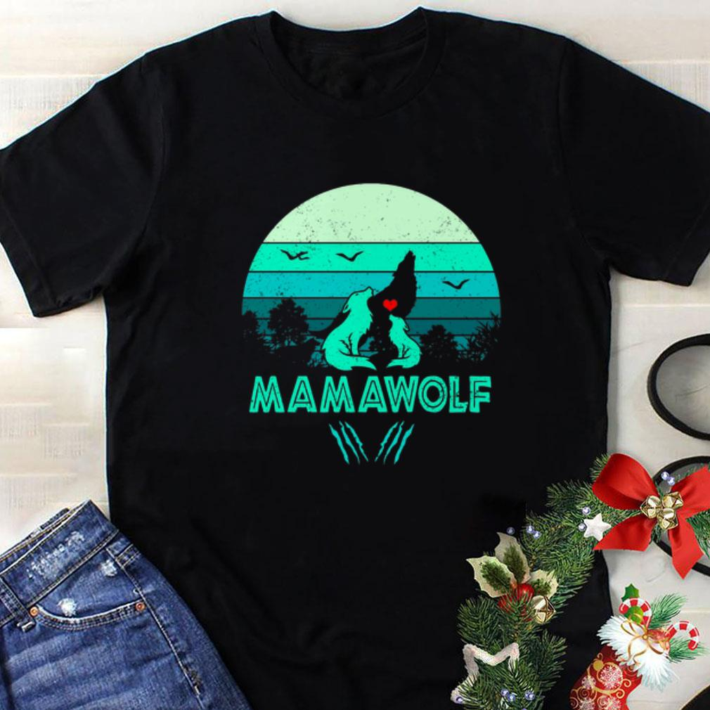 Wolves love mamawolf vintage mother day shirt