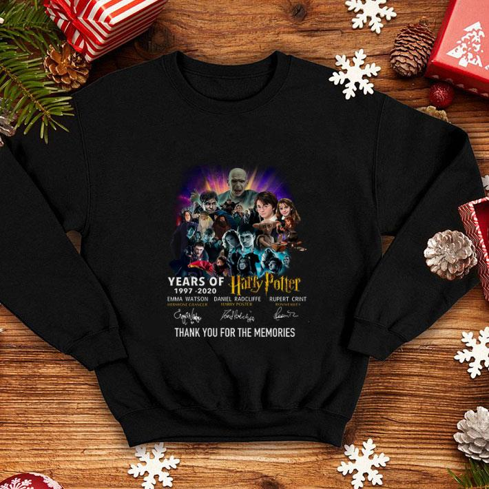 Years of 1997 2020 Harry Potter signature thank for the memories shirt