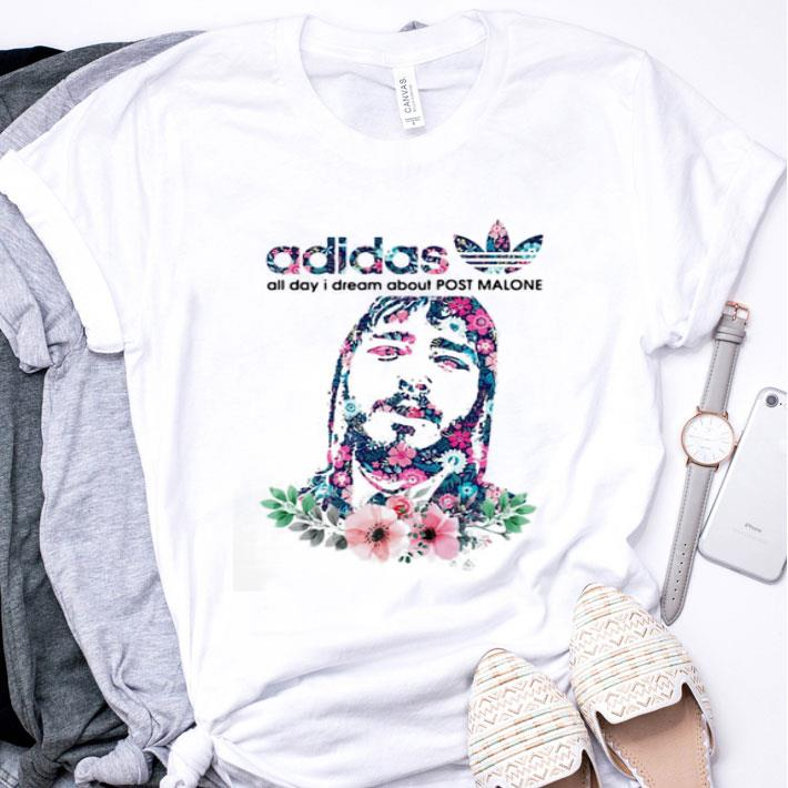 adidas all day I dream about Post Malone Flower shirt