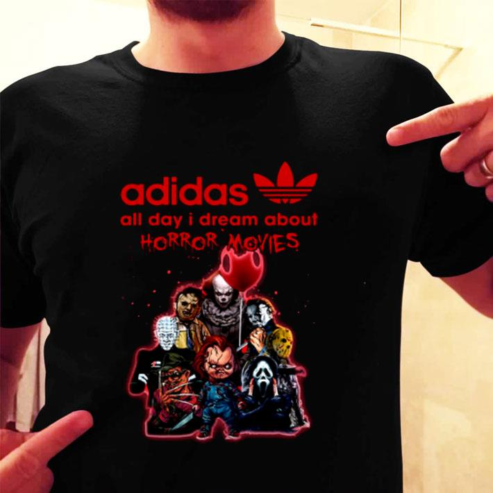 adidas all day i dream about horror movie characters shirt