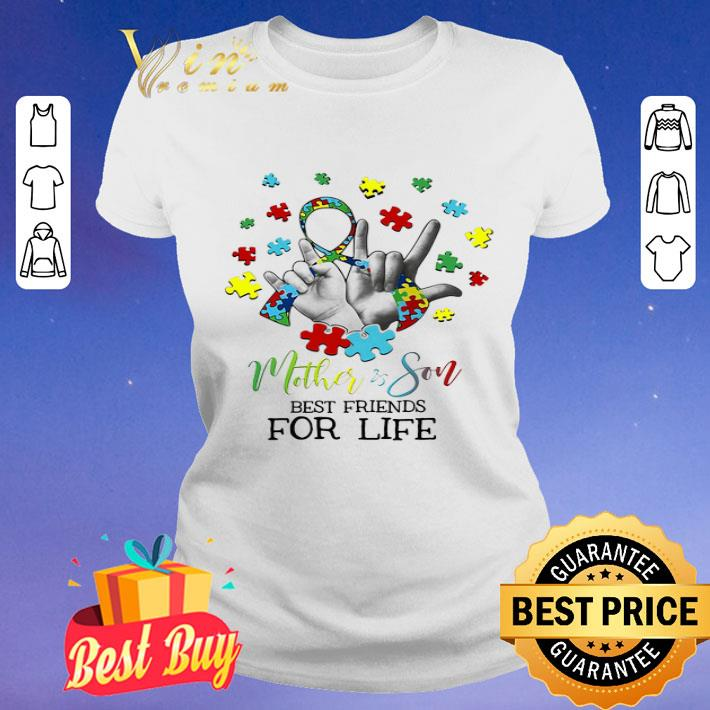 Mother & Son Best Friends For Life Awareness Autism shirt