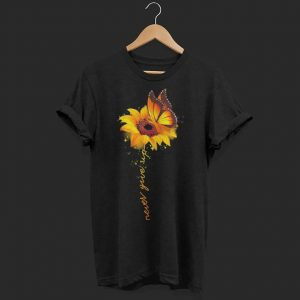 Butterfly sunflower never give up raise multiple sclerosis awareness shirt
