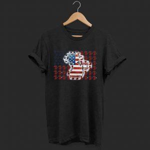 Cat American flag shirt