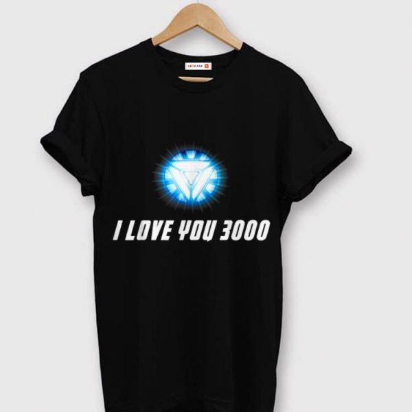 Arc Reactor I Love You 3000 End Game shirt