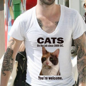 Cat on the job since 3000 BC you're welcome shirt 1