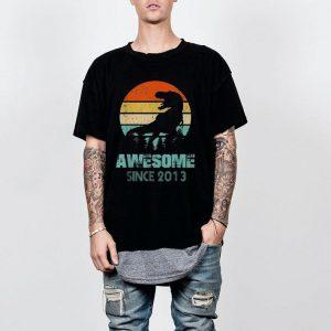Dinosaur awesome since 2013 shirt