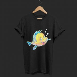 Disney The Little Mermaid Flounder Bubbles shirt