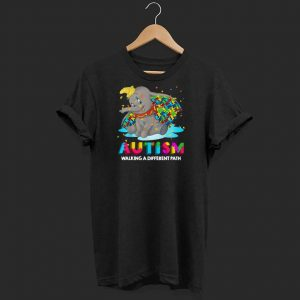 Elephant autism walking a different path shirt