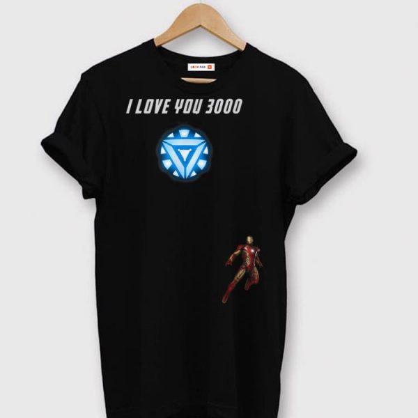 I Love You 3000 Iron man Arc reactor End game shirt