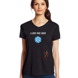 I Love You 3000 Iron man Arc reactor End game shirt 2