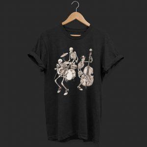 Skull band music shirt