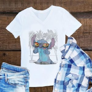 Disney Lilo and Stitch Sunglass Beach Hawaii shirt