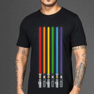 LGBT Flag Light Swords Light Saber Gay Pride shirt