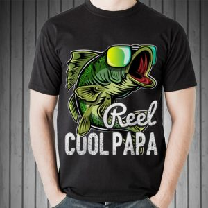 Mens Reel Cool Papa Fishing Sunglasses Father's Day shirt 1