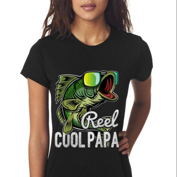 Mens Reel Cool Papa Fishing Sunglasses Father's Day shirt