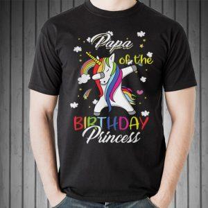 Papa Of A Birthday Princess Unicorn Dab shirt