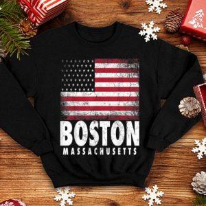 4th Of July Boston Massachusetts American Flag shirt