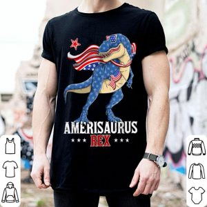 4th Of July Dinosaur American Flag Amerisaurus T-Rex shirt
