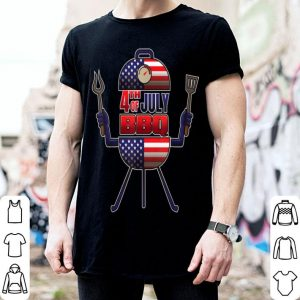 4th of July BBQ Kettle Grill Independence Day shirt
