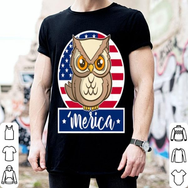 4th of July 'Merica Owl & American Flag shirt