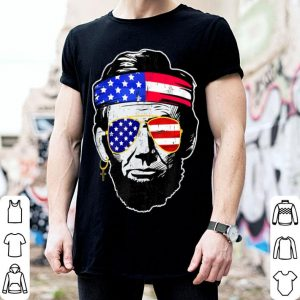 Abraham lincoln 4th Of July American Flag Sunglasses shirt