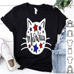 American Cat 4th Of July Cat Patriotic Cat Meowica shirt