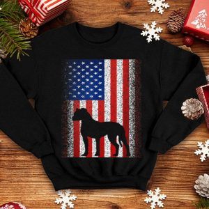 American Flag Boxer Dog 4th Of July shirt
