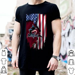 American Flag MLB Miami Marlins Mashup shirt