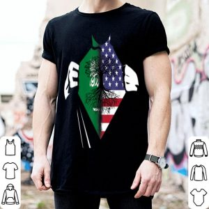 American Flag Saudi Arabia Hands Usa Saudi Arabian Root shirt