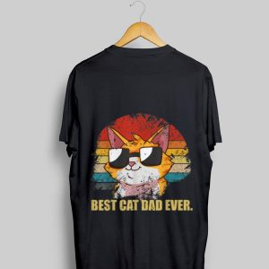 Best Cat Dad Ever Vintage Father Day shirt