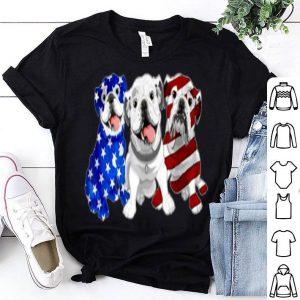 Bulldog American Flag Independence Day shirt