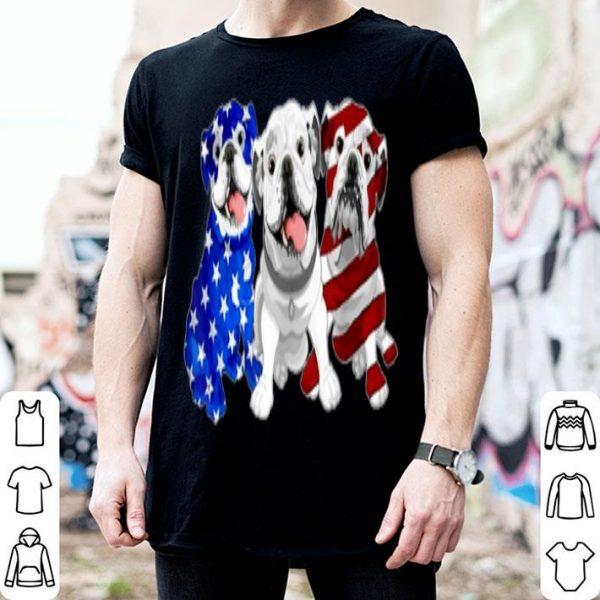 Bulldog American Flag Independence Day shirt