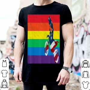 Dirt Bike Rainbow American Flag Gay Lgbt Pride shirt