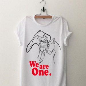 Disney Lion King Simba and Nala We are One Love shirt