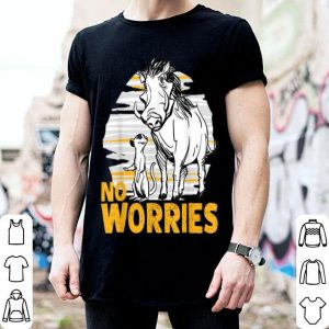 Disney The Lion King Live Action Timon Pumbaa No Worries shirt