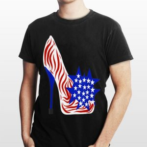 Donald Trump High Heels U.S Flag shirt