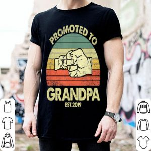 Father Day Promoted To Grandpa Est 2019 shirt