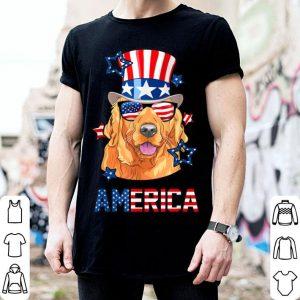 Golden Retriever America Dog 4th of July shirt