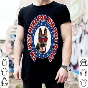 July 4th I'm Here for Hot Dogs German Shepherd shirt