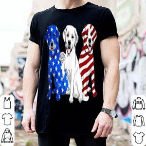 Labrador Retriever dog American flag 4th of July shirt