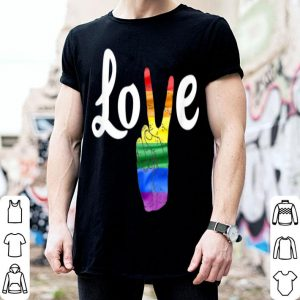 Love Peace Sign Rainbow Gay Pride Love Is Love shirt