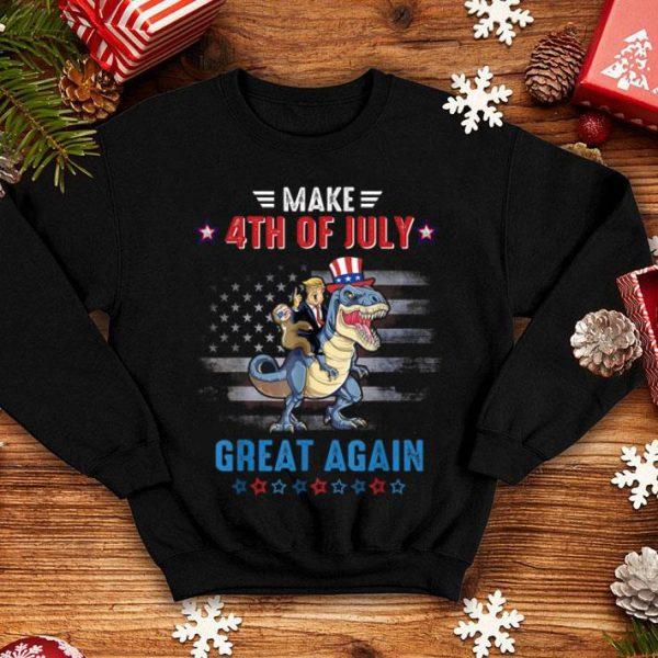 Make 4th Of July Great Again Trump T Rex shirt