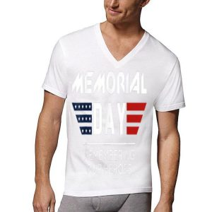 Memorial Day T With Usa Flag Remember Day shirt