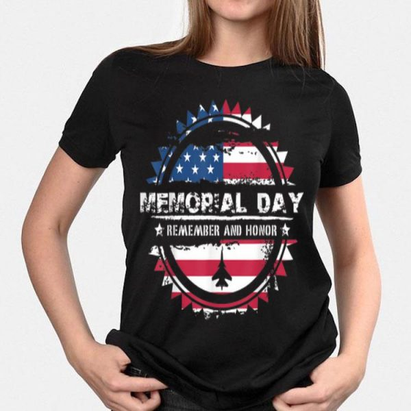 Memorial Day With Usa Flag Remember And Honor shirt
