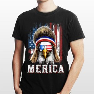 Merica Eagle Mullet 4th Of July American Flag Sunglass shirt