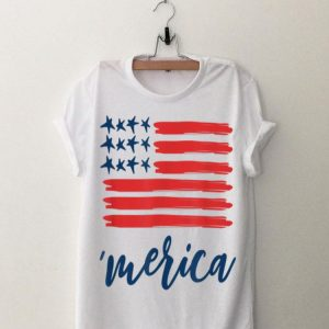 Merica Vintage American Flag 4th of July for Men Women Kids shirt