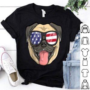 Pug Dog Patriotic USA 4th of July American Cute shirt
