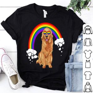 Rainbow Flag Retrievers Golden LGBT Pride Month shirt